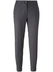 Etro Floral Patterned Trousers Grey
