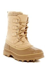 Sorel Caribou Fleece Lined Waterproof Boot Metallic