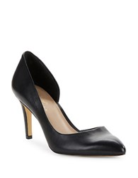 424 Fifth Nyla Leather Dorsay Pumps Black