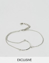 Monki Exclusive Chain And Bar Detail Bracelet Golld And Silver Gold