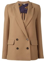 Paul Smith Ps By Double Breasted Peaked Lapel Blazer Nude Neutrals