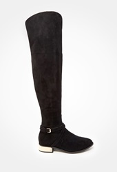 Forever 21 Faux Suede Over The Knee Boots Black