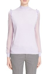 Women's Undercover Chiffon Sleeve Knit Pullover