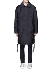 Lanvin Lace Up Detail Down Padded Parka Grey