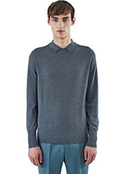 Ss16 Acne Studios Janeck Collared Sweater Grey