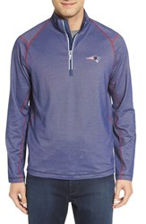 Tommy Bahama Men's 'Nfl Double Eagle' Quarter Zip Pullover Patriots