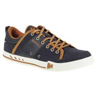 Merrell Rant Canvas And Leather Lace Up Trainers Navy Bering Sea