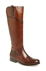 Frye 'Melissa Tab' Knee High Boot Women Wide Calf Redwood Extended Calf Leather