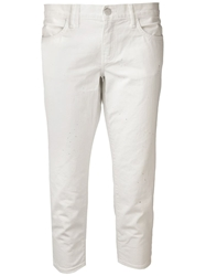 Crippen 'Jp' Cropped Jeans White