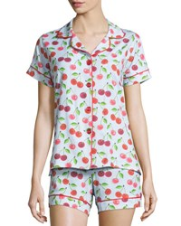 Bedhead Sweet Cherry Printed Shorty Pajama Set