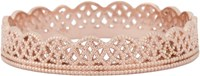 Grace Lee Women's Gold Lace Band Ring Colorless
