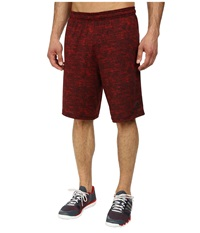 Adidas Team Issue Fitted Short Scarlet Heather Black Men's Shorts Red