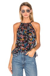 Ella Moss Wildflower Tank Black