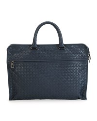 Softie Slim Woven Briefcase Black Bottega Veneta