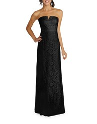 Donna Morgan Strapless Slit Neck Sheath Gown Black