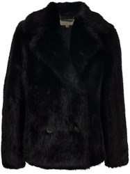 Michael Kors Faux Fur Jacket Black