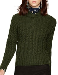 Polo Ralph Lauren Wool And Alpaca Cable Knit Sweater Green