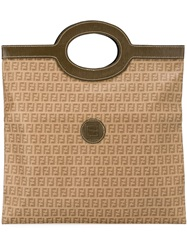 Fendi Vintage Monogram Tote Brown
