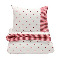 Gant Stars And Stripes Duvet Cover Bright Red Double 200 X 200 Cm