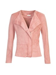 Lavand Faux Suede Waterfall Jacket Pink