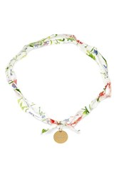 Women's Flowers Of Liberty Floral Print Charm Necklace