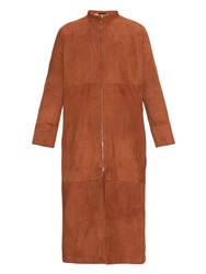 The Row Luri Suede Long Coat