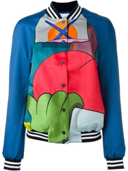 Mira Mikati Embroidered Bomber Jacket Blue