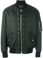 Diesel Black Gold 'Jedo' Bomber Jacket Green