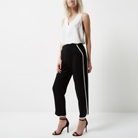 River Island Womens Petite Black Soft Jogger Trousers
