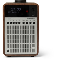 Revo Supersignal Walnut And Aluminium Digital Radio Silver