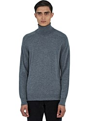 Ami Alexandre Mattiussi Merino Wool Roll Neck Sweater Grey
