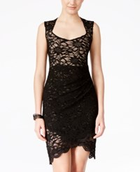 Jump Juniors' Tulip Hem Lace Sheath Dress Black