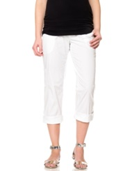 Motherhood Maternity Convertible Cargo Pants White