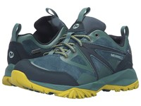 Merrell Capra Bolt Leather Waterproof Sagebrush Green Women's Lace Up Casual Shoes Multi