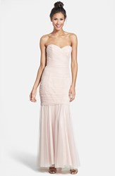 Amsale Women's Strapless Tulle Mermaid Gown Blush