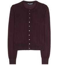 Dolce And Gabbana Cashmere Cardigan Purple