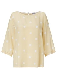 Marella Spotted Silk Top Light Yellow
