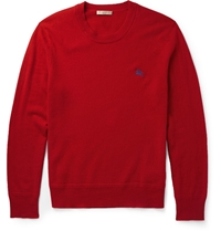 Burberry Crew Neck Cashmere Sweater Red