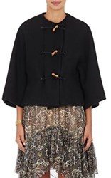 Chloe Women's Wool Blend Collarless Jacket Black