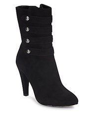 Saks Fifth Avenue Suede Valentina Ankle Boots Black
