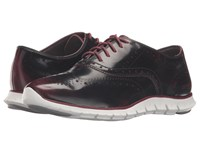 Cole Haan Zerogrand Wing Oxford Zinfandel Brush Off Leather Optic White Women's Shoes Brown