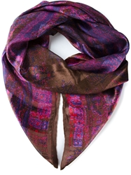 Celine Vintage 'Impressive' Scarf Pink And Purple