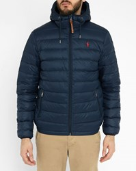 Polo Ralph Lauren Navy Light Down Jacket Blue