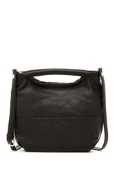 Perlina Norah Leather Convertible Slouch Shoulder Bag Black