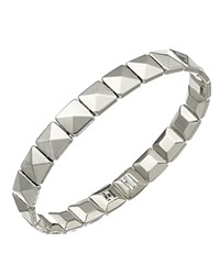Chimento 18K White Gold Armillas Collection Square Link Bracelet