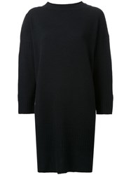 Theatre Products Longsleeved Shift Knit Dress Black