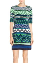 Women's Eliza J Geometric Print Jersey Shift Dress