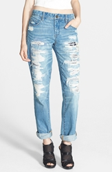 Blanknyc Destroyed Boyfriend Jeans Torn To Shreds