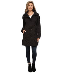 Rainforest Packable Modern Trench Black Women's Coat