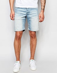 Only And Sons Light Wash Denim Shorts Light Blue